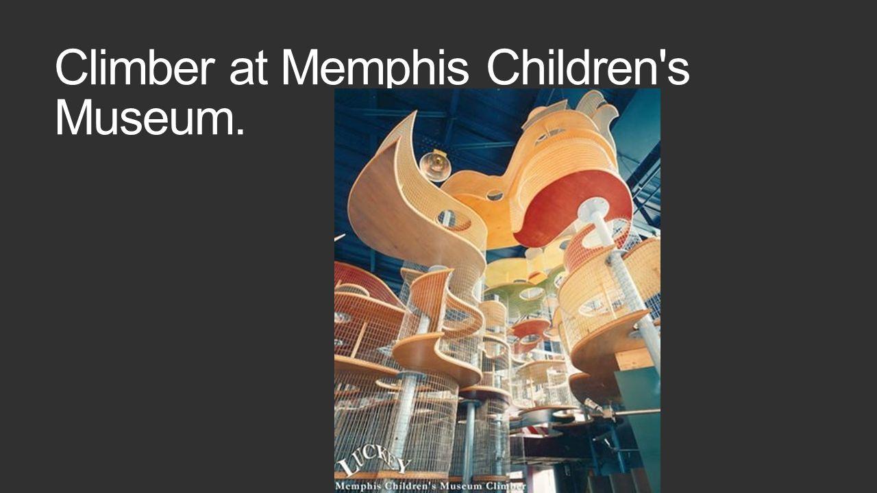 Climber at Memphis Children's Museum.