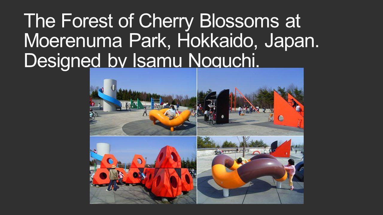 The Forest of Cherry Blossoms at Moerenuma Park, Hokkaido, Japan. Designed by Isamu Noguchi.