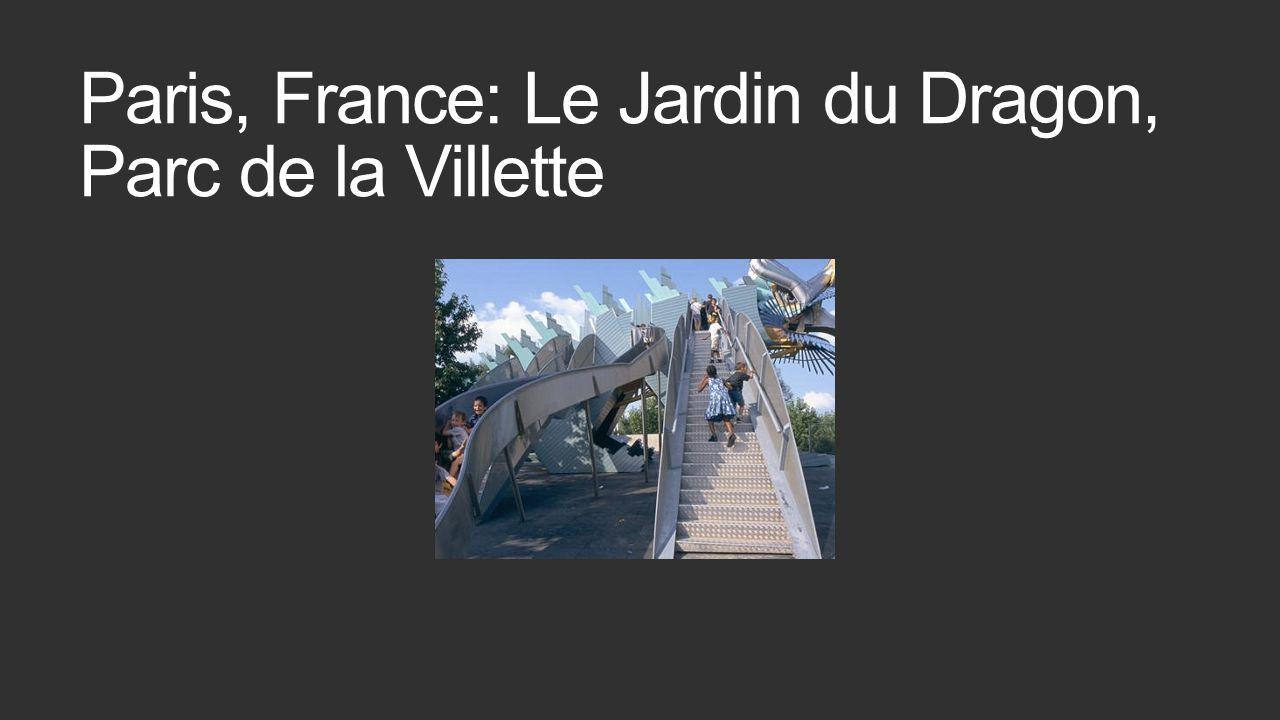 Paris, France: Le Jardin du Dragon, Parc de la Villette