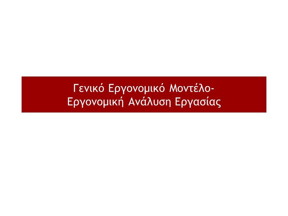Γενικό Εργονομικό Μοντέλο- Εργονομική Ανάλυση Εργασίας