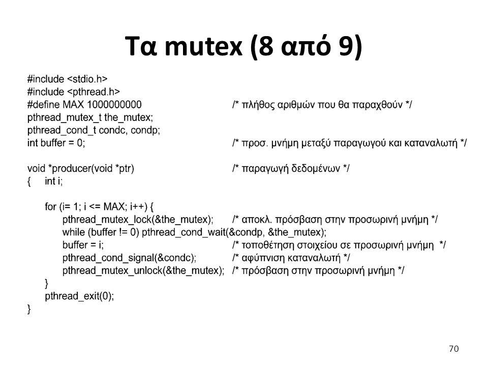 Τα mutex (8 από 9) 70