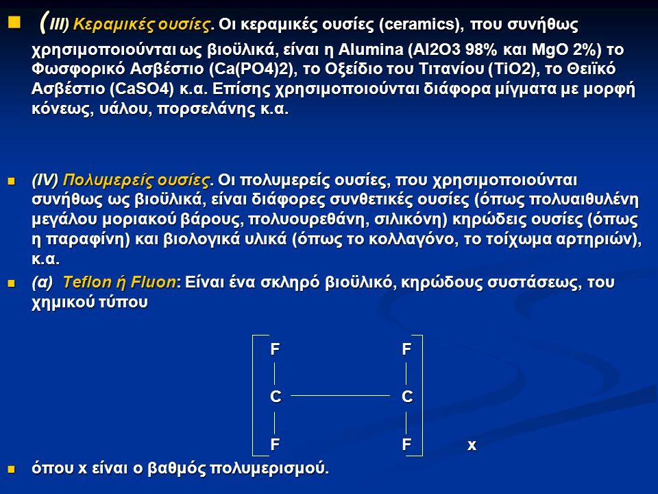 ( III) Kεραμικές ουσίες.