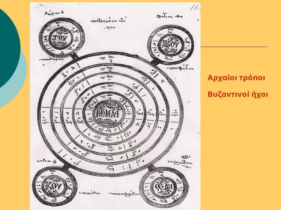 Αρχαίοι τρόποι Βυζαντινοί ήχοι