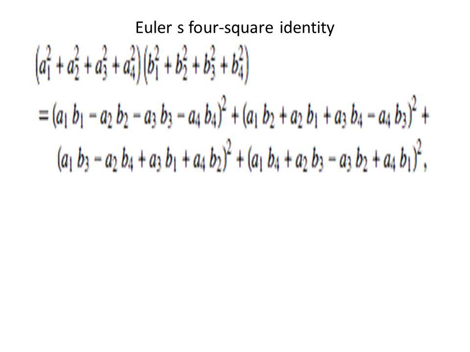 Euler s four-square identity