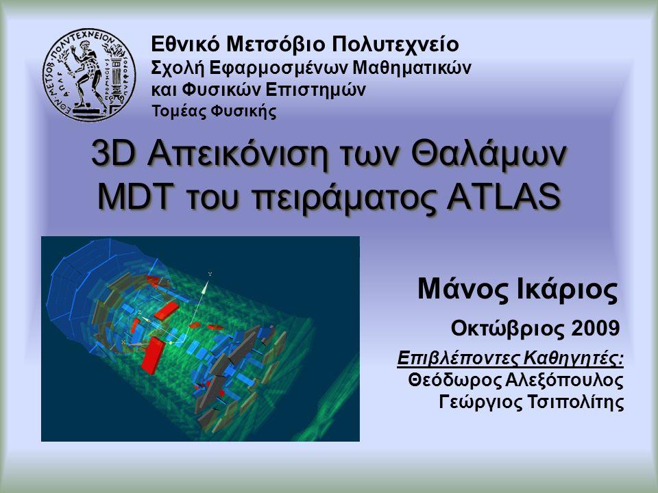 Περιεχόμενα Το Πείραμα ATLAS και οι Θάλαμοι MDT Σύστημα Ελέγχου του Ανιχνευτή Finite State Machine SCADA και PVSSII 3D Απεικόνιση και Επισκόπηση Συμπεράσματα Ικάριος Εμμανουήλ2