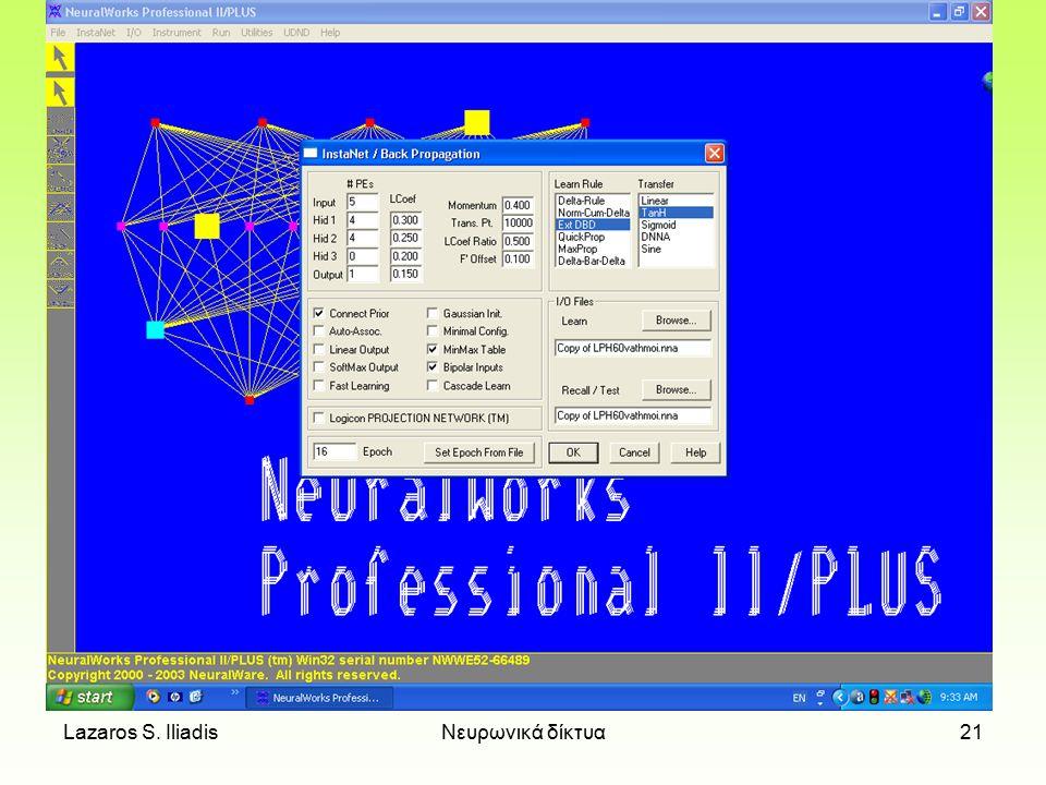 Lazaros S. IliadisΝευρωνικά δίκτυα20
