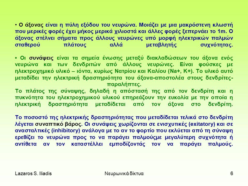 Lazaros S. IliadisΝευρωνικά δίκτυα5