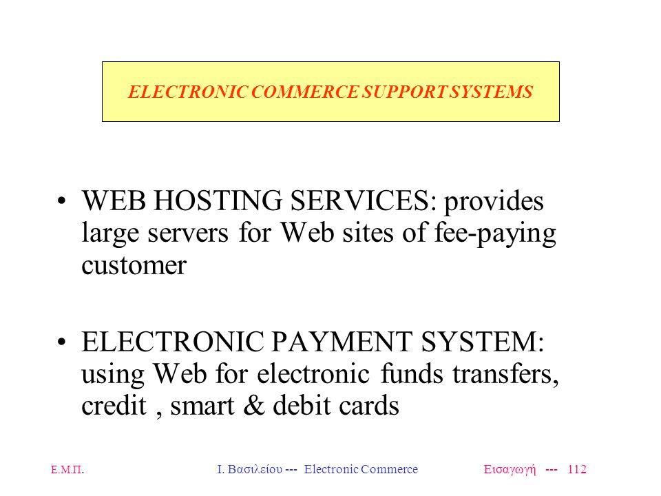 The E-Enterprise Framework Ε.Μ.Π. Ι. Βασιλείου --- Electronic Commerce Εισαγωγή --- 111
