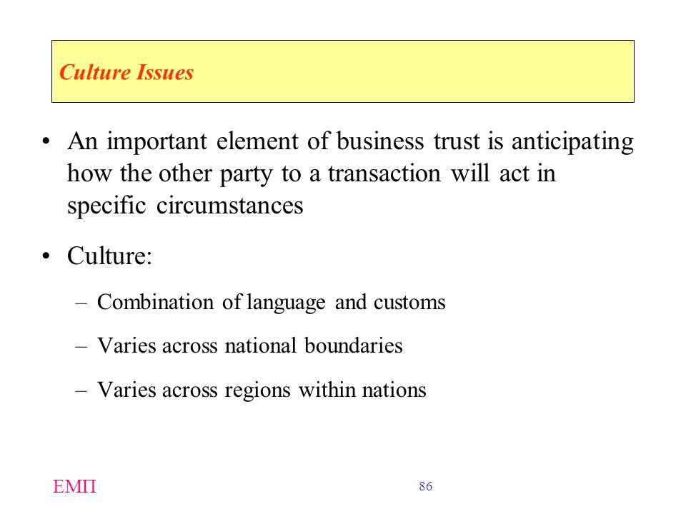ΕΜΠ 85 Language Issues To do business effectively in other cultures a business must adapt to those cultures Researchers have found that customers are