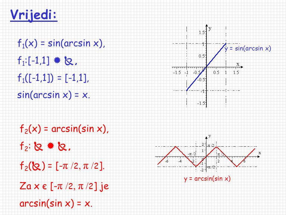 arcsin: [-1,1]  , arcsin x = Arcsin x, arcsin([-1,1]) = [- π / 2, π / 2 ]. arcsin arccos arccos: [-1,1]  , arccos x = Arccos x, arcos([-1,1]) = [0