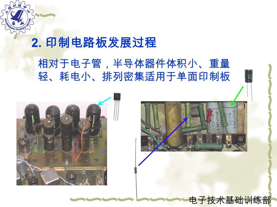 2. 印制电路板发展过程 单面板 电子技术基础训练部