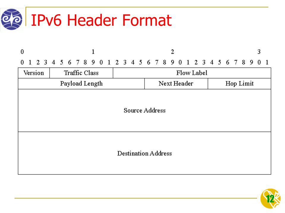 12 IPv6 Header Format