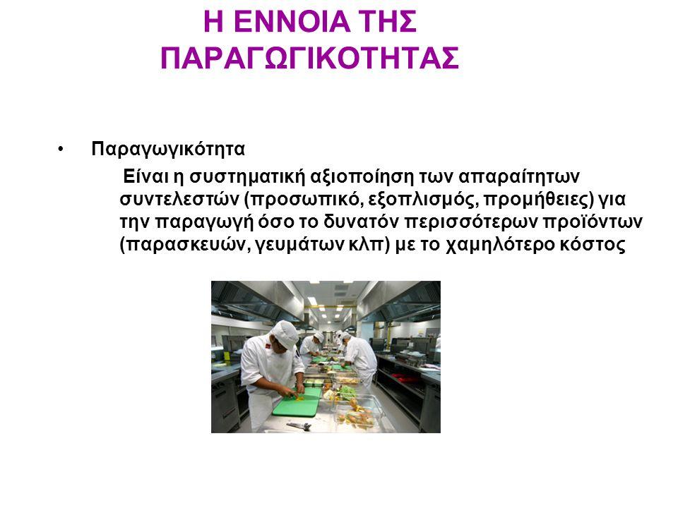 ΥΓΙΕΙΝΗ ΚΑΙ ΑΣΦΑΛΕΙΑ Παράγοντες που πρέπει να λαμβάνονται υπόψη για την υγιεινή και ασφάλεια κατά το σχεδιασμό της κουζίνας: –Πάτωμα – ανθεκτικό και να καθαρίζεται γρήγορα –Τοίχοι – ειδική μπογιά –Γωνιές – κυκλικές –Φωτισμός – άφθονος φυσικός και τεχνικός για: Αυξημένη παραγωγικότητα Λιγότερα ατυχήματα Λιγότερες απώλειες και λάθη –Εξαερισμός – αποτρέπει μεταφορά μυρωδιών, καπνών και υδρατμών –Πόρτες και παράθυρα – να κλείνουν καλά –Οροφή – ειδική μπογιά