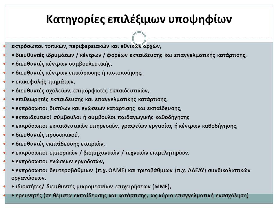 Ενδεικτικές κατηγορίες θεμάτων ( ε )