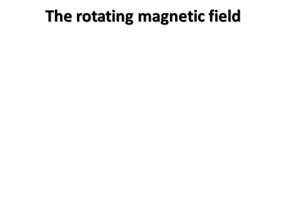 The rotating magnetic field