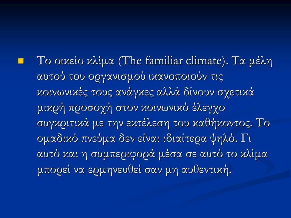 Το οικείο κλίμα (The familiar climate).
