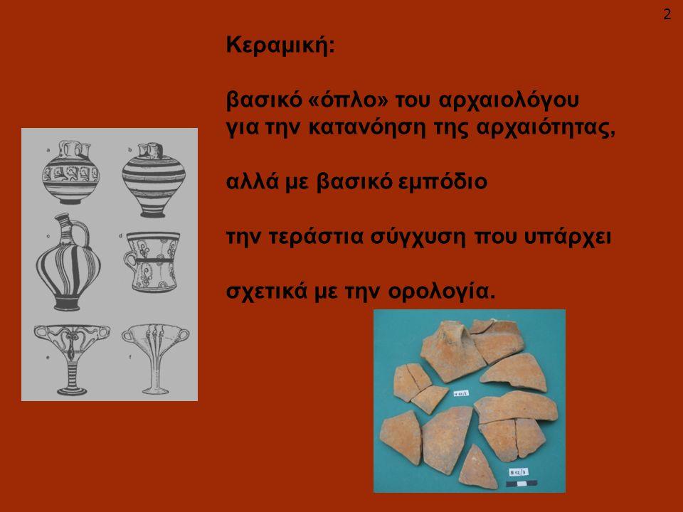 Κεραμική: βασικό «όπλο» του αρχαιολόγου για την κατανόηση της αρχαιότητας, αλλά με βασικό εμπόδιο την τεράστια σύγχυση που υπάρχει σχετικά με την ορολ