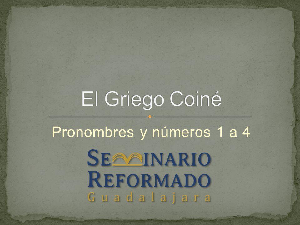 Pronombres y números 1 a 4
