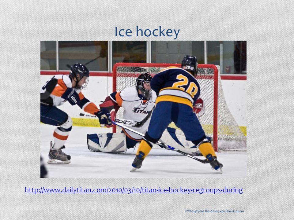 Ice hockey http://www.dailytitan.com/2010/03/10/titan-ice-hockey-regroups-during ©Υπουργείο Παιδείας και Πολιτισμού