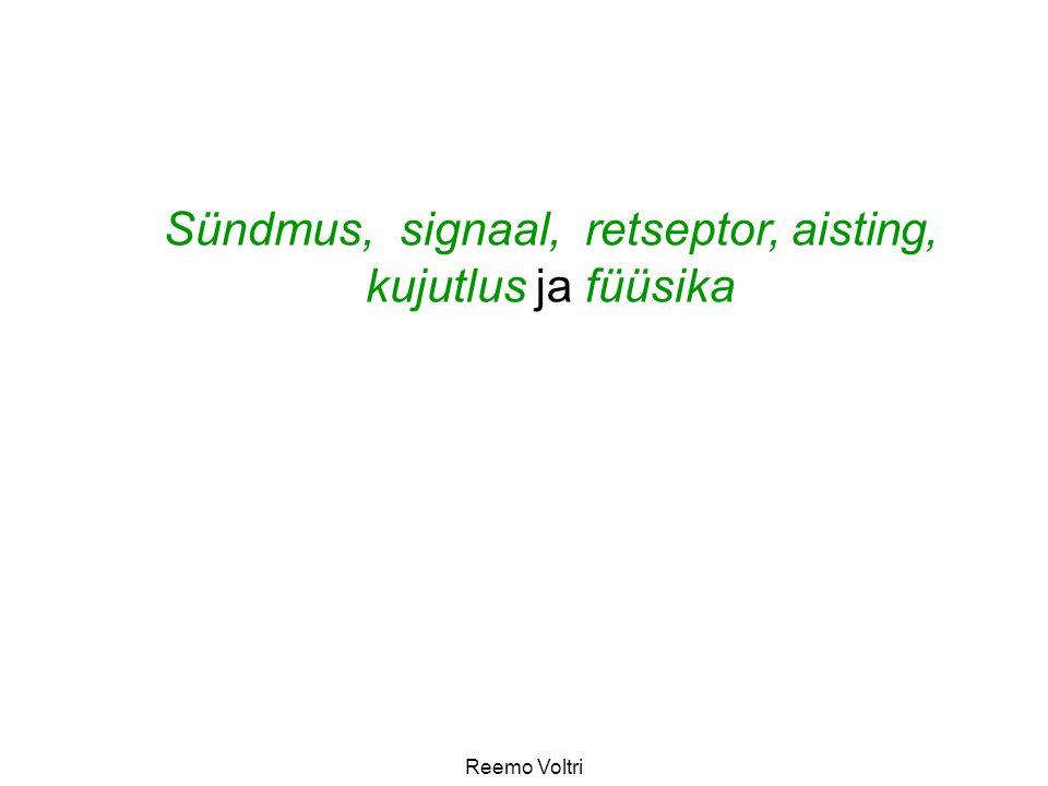 Reemo Voltri Sündmus, signaal, retseptor, aisting, kujutlus ja füüsika