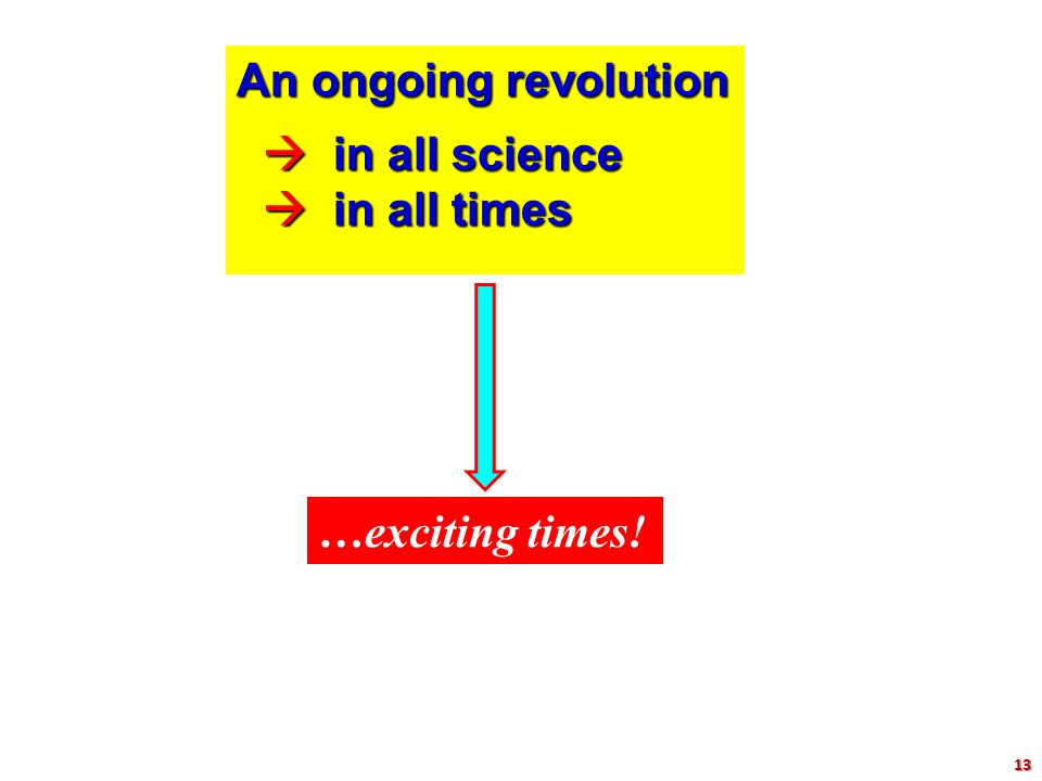 An ongoing revolution  in all science  in all science  in all times  in all times …exciting times! 13