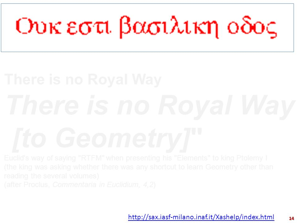 There is no Royal Way [to Geometry]
