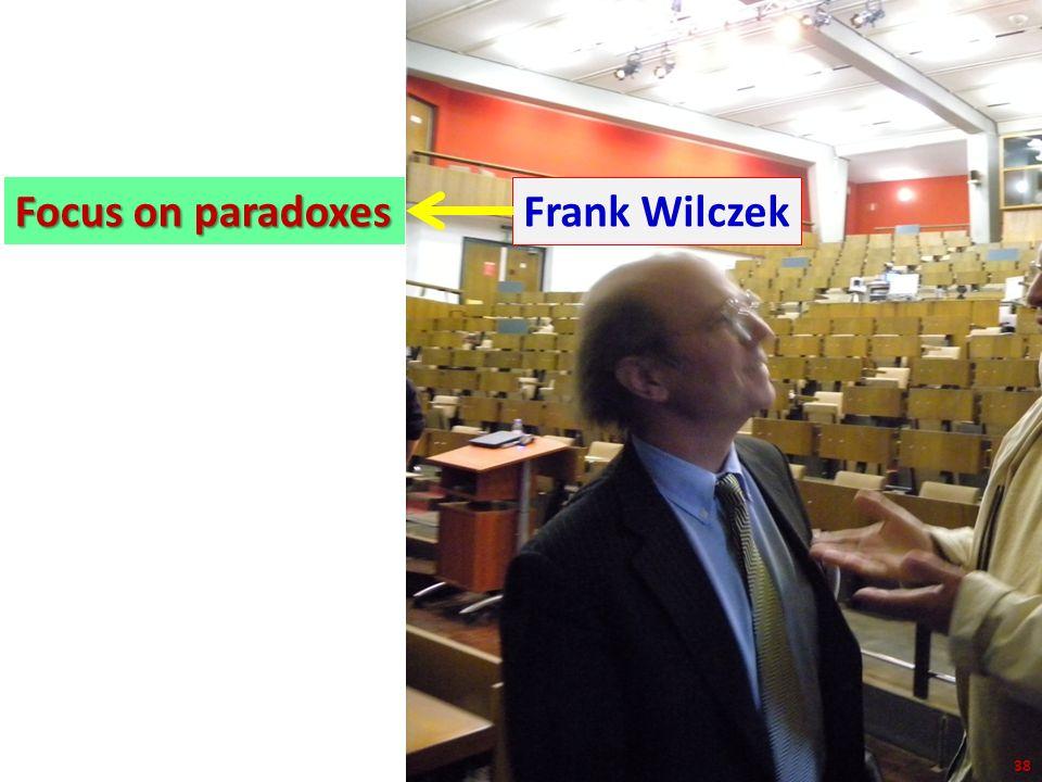 38/43 Focus on paradoxes Frank Wilczek 38