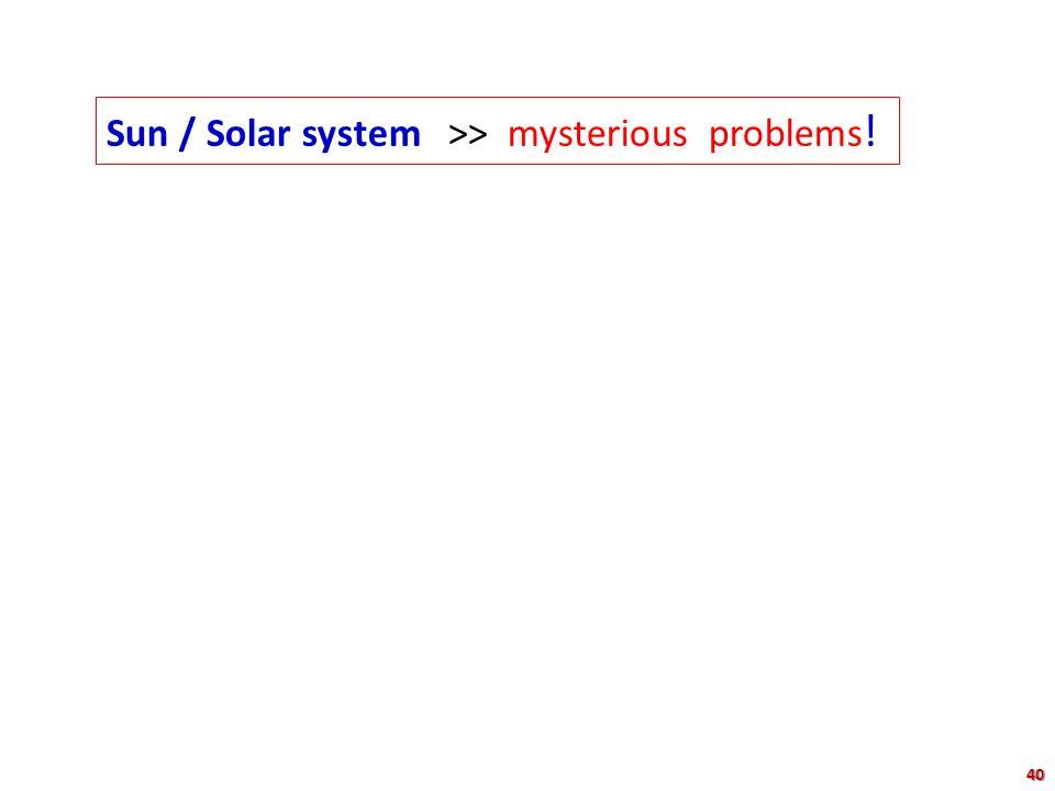Sun / Solar system >> mysterious problems ! 40