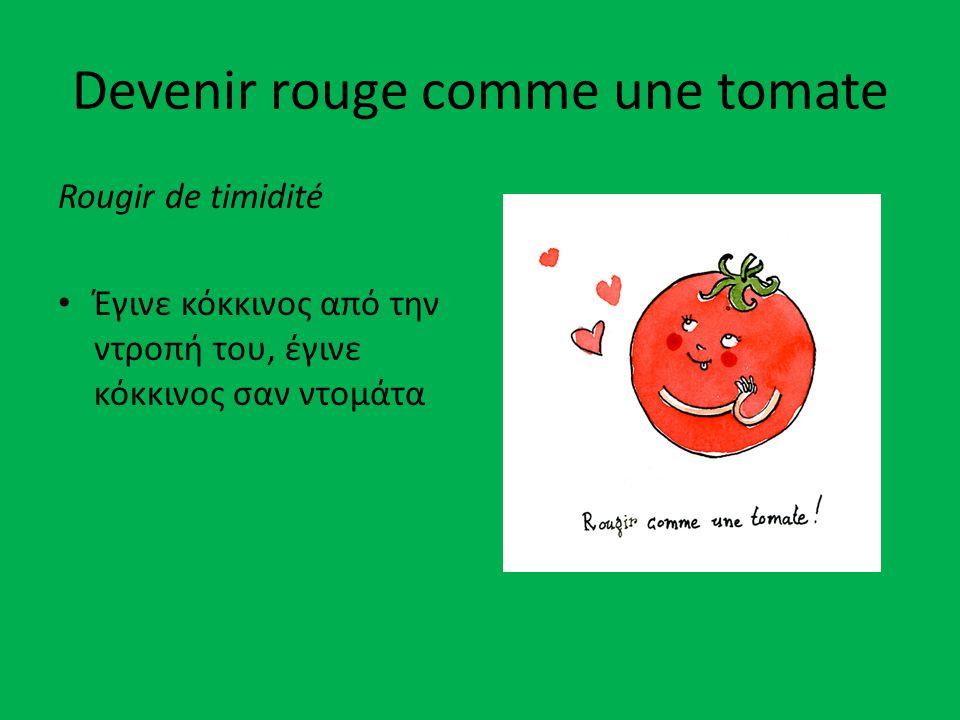 Devenir rouge comme une tomate Rougir de timidité Έγινε κόκκινος από την ντροπή του, έγινε κόκκινος σαν ντομάτα