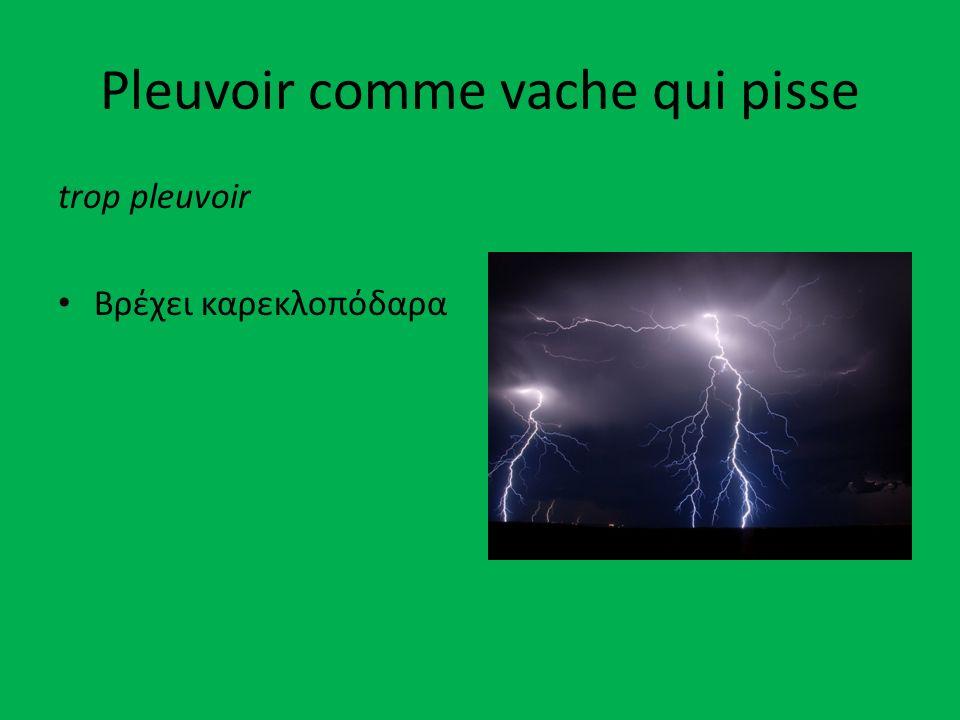 Pleuvoir comme vache qui pisse trop pleuvoir Βρέχει καρεκλοπόδαρα