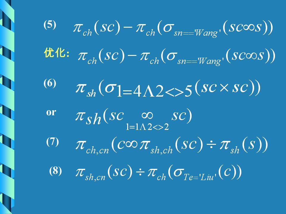 (5) 优化 : (6) or (7) (8)