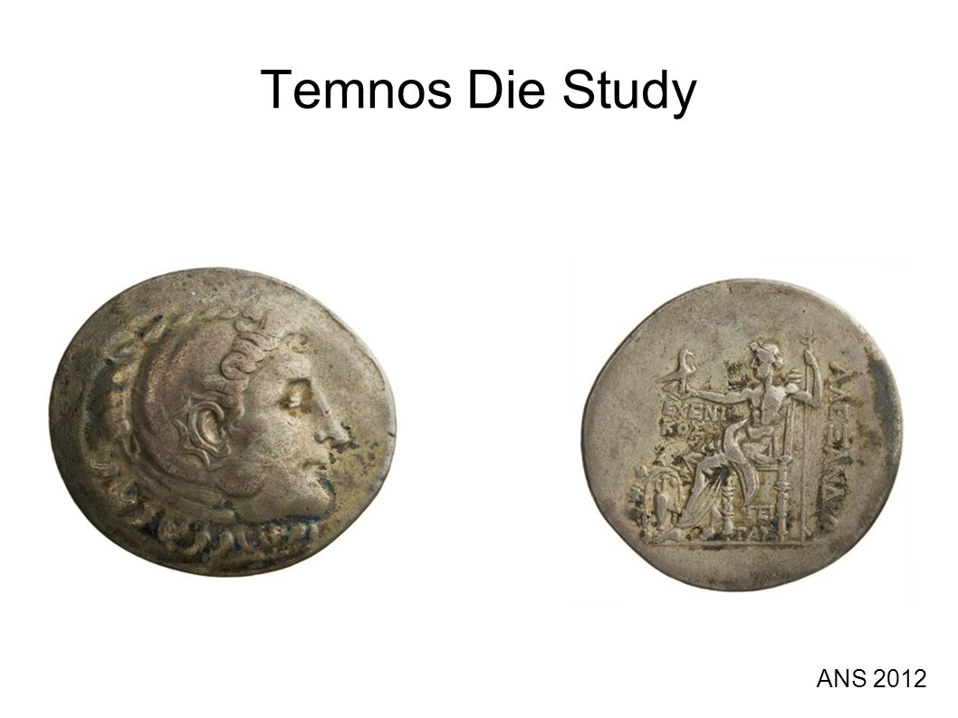 What is it.Die study of posthumous Alexander tetradrachms minted by Temnos in Aeolia.