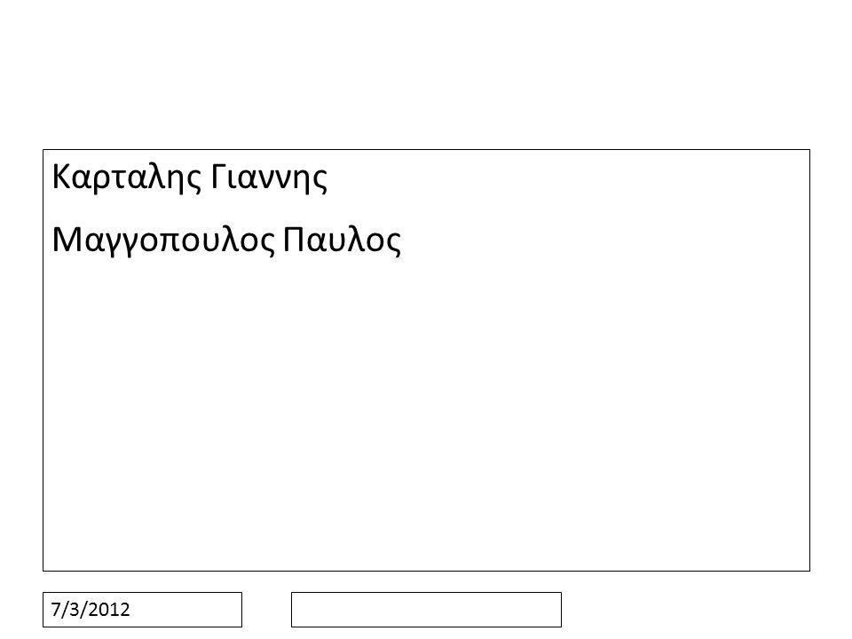 7/3/2012 Καρταλης Γιαννης Μαγγοπουλος Παυλος