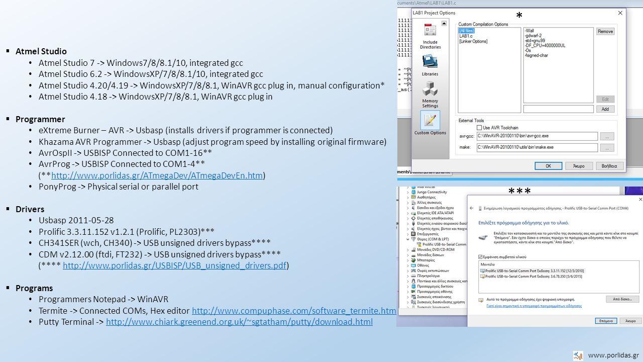 AVR Minimum ATMEGA16/32 System Board www.porlidas.gr