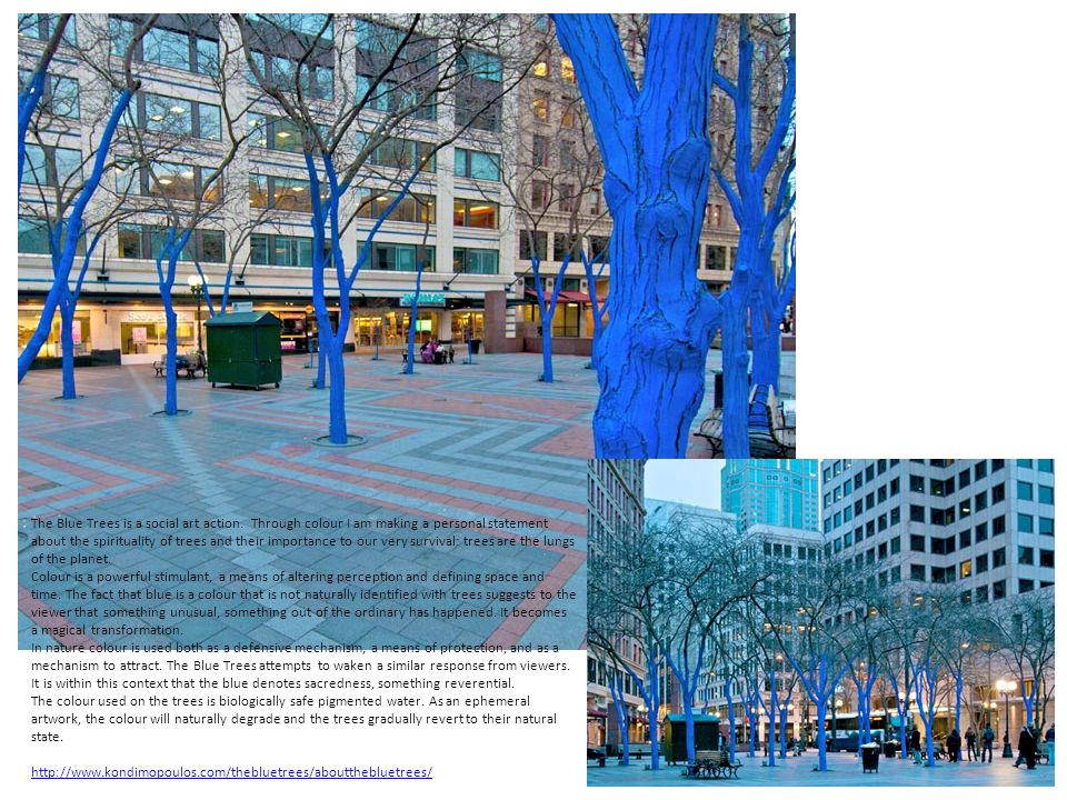 american artist jessica stockholder s color jam installation sees a downtown chicago intersection awash with color.