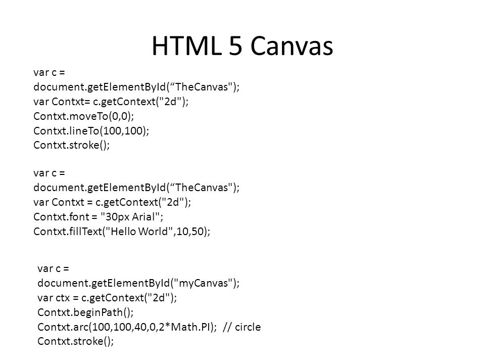 HTML 5 Canvas example Your browser does not support the HTML5 canvas tag.