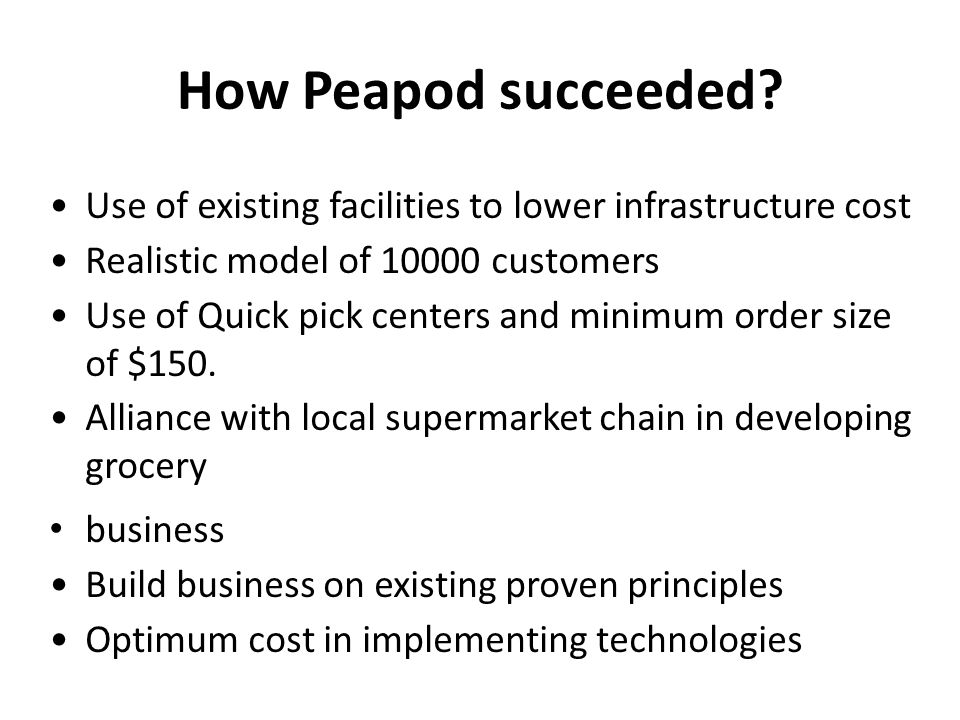 How Peapod succeeded.