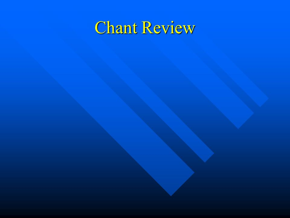 Chant Review