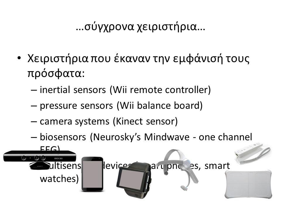 Computers smartTV tablet Smart phones …σύγχρονες συσκευές αλληλεπίδρασης…