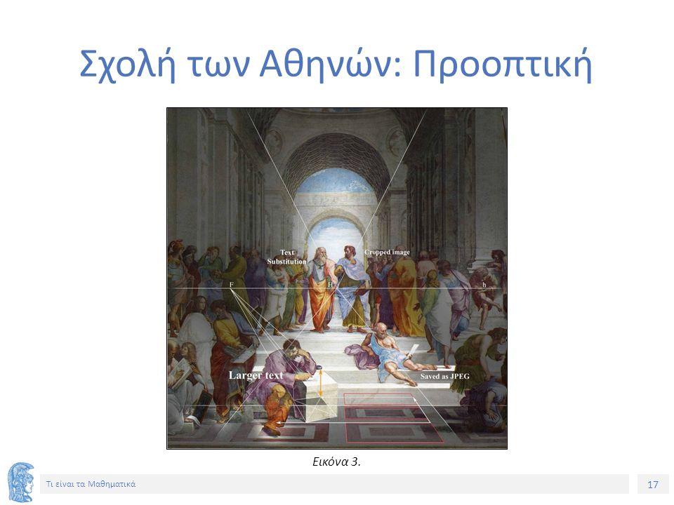 17 Τι είναι τα Μαθηματικά Σχολή των Αθηνών: Προοπτική Εικόνα 3.