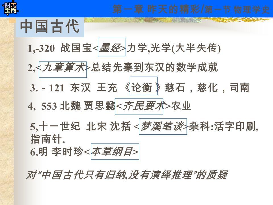 中国古代 3. - 121 东汉 王充 《论衡 》慈石,慈化,司南 5, 十一世纪 北宋 沈括 杂科 : 活字印刷, 指南针.