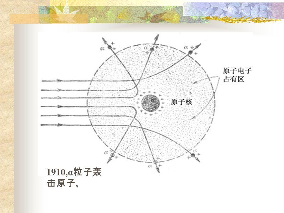 1910,α 粒子轰 击原子,