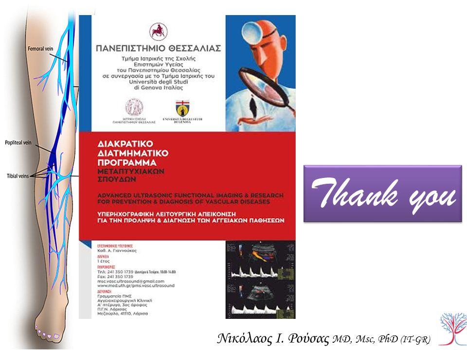 Thank you Νικόλαος Ι. Ρούσας MD, Msc, PhD (IT-GR)