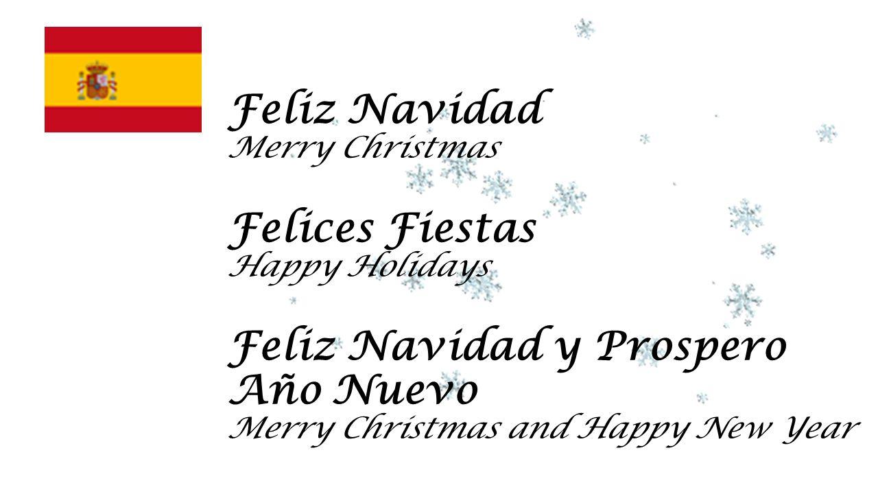 Feliz Navidad Merry Christmas Felices Fiestas Happy Holidays Feliz Navidad y Prospero Año Nuevo Merry Christmas and Happy New Year