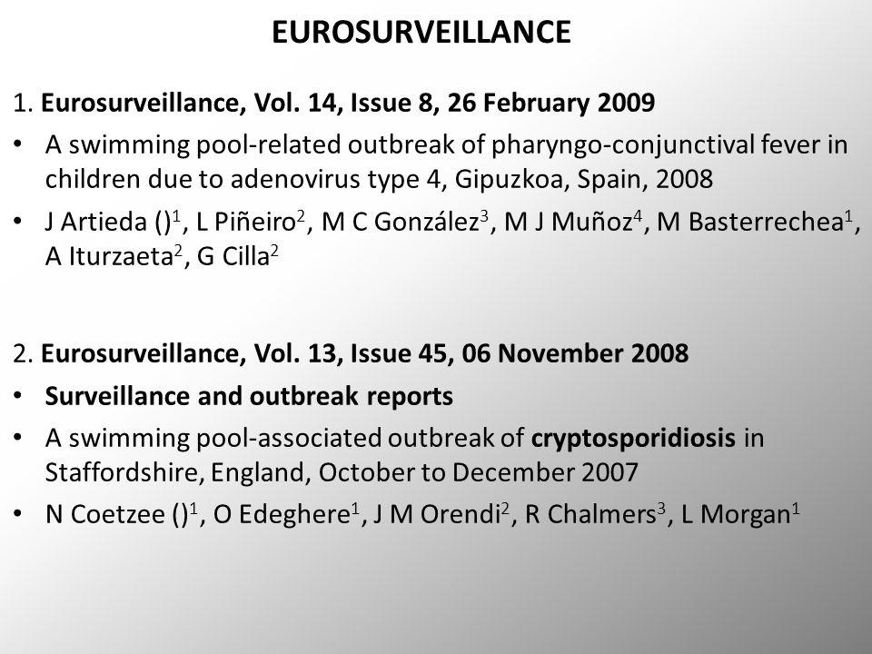 EUROSURVEILLANCE 1. Eurosurveillance, Vol.
