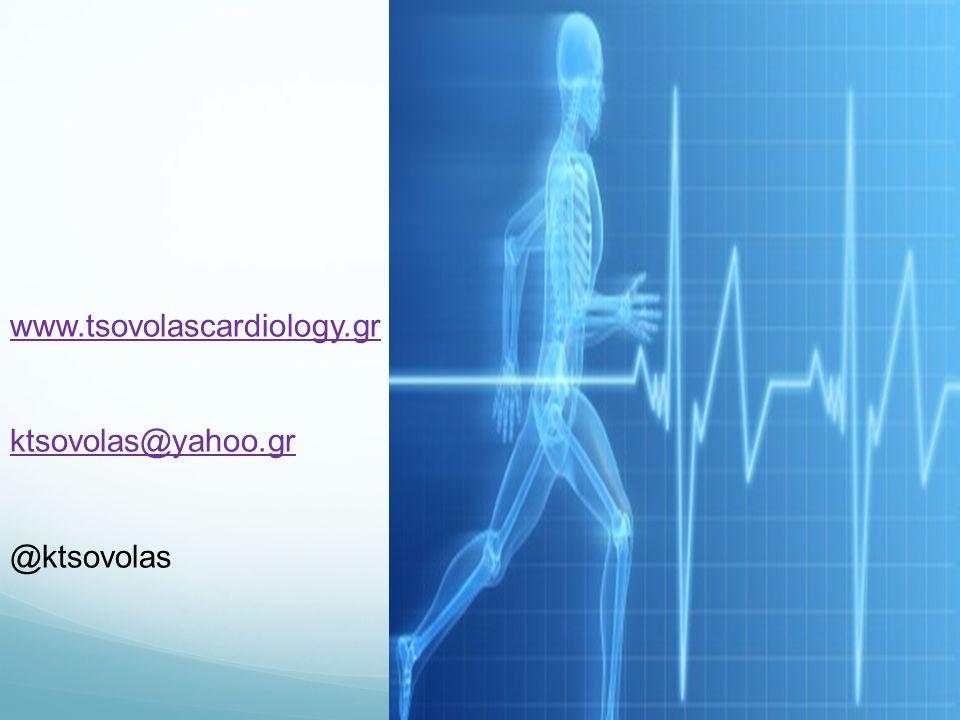 www.tsovolascardiology.gr ktsovolas@yahoo.gr @ktsovolas
