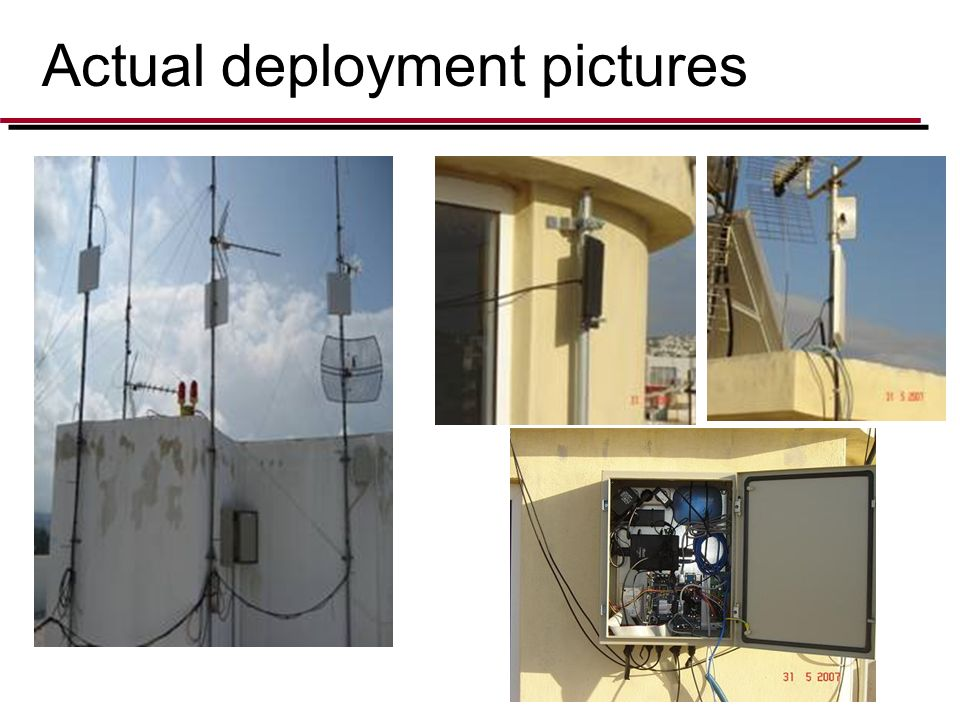 Actual deployment pictures