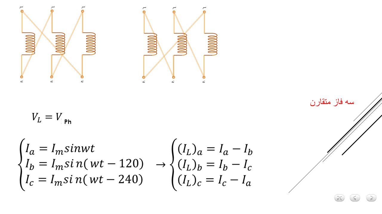 نسبت تبدیل در اتصال ستاره – ستاره جایگزین برای هر فاز مدل تکفاز V ph1 V ph2 V ph1 V ph2