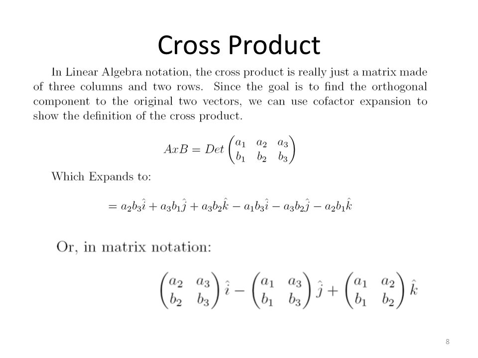 Cross Product 8