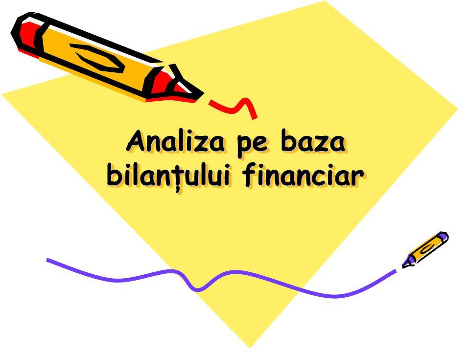Analiza pe baza bilanţului financiar sau analiza patrimonială îşi propune identificarea stării de echilibru la nivelul firmei.